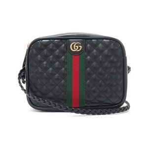 GUCCI TRAPUNTATA QUILTED LEATHER SMALL BAG